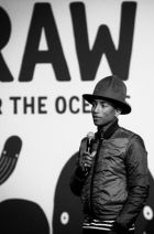 Pharell Williams at a G-Star RAW For The Oceans presentation