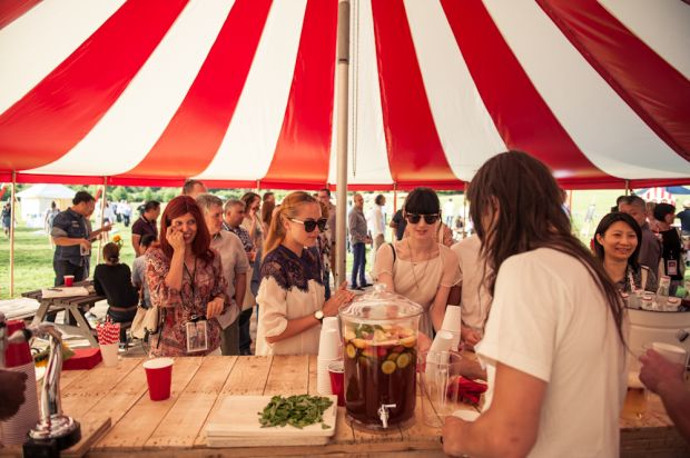 Pimm's and a summery atmosphere at the Lee Cooper party