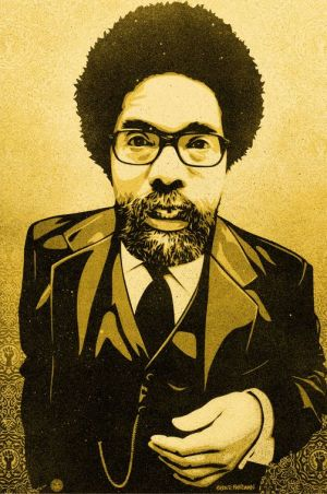 Portrait of Cornell West by Glen E. Friedman