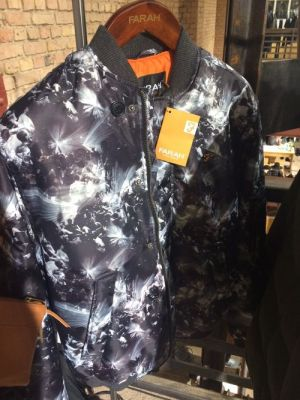 Printed bomber at Farah Vintage