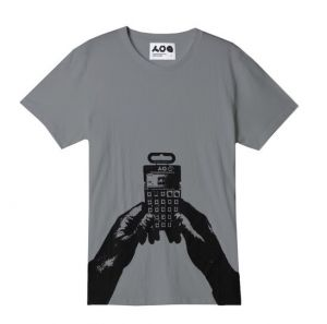 Printed t-shirt with the Pocket Operator as motif