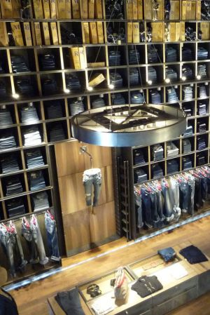 Replay store denim Wall