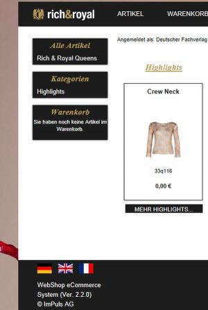 Rich & Royal launches B2B Webshop.