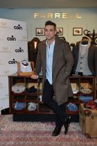 Robbie Williams at a brand presentation at Coin Milan in October 2012