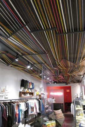 Rope ceiling inside Life:Curated
