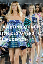 Screenshot from the website of the British Fashion Council