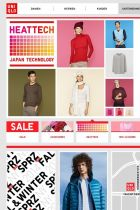 Screenshot of Uniqlo's website