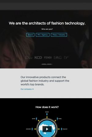 Screenshot of the Fashion GPS website