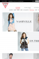 Screenshot of the Guess website