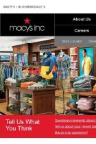 Screenshot of the Macy's Inc Website
