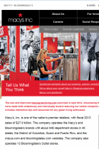 Screenshot of the Macy's Inc. website