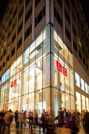 See here Uniqlo store on 5th avenue in the US