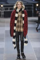 Slimane showed a young, hippie new wave menswear for Saint Laurent