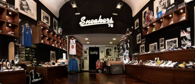 Sneakers and sportswear at Sneakers76 in Taranto, Italy