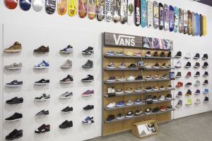 Sneaker wall at Yankee Shop