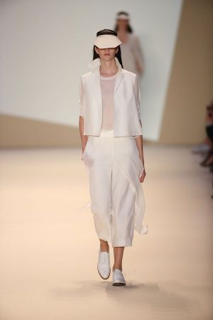 Sportswear inspired look at Akris