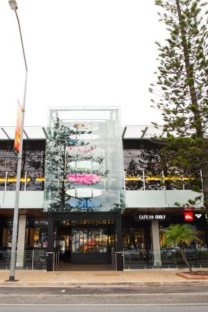 Storefront of the new Boardriders concept store in Coolangatta, Australia