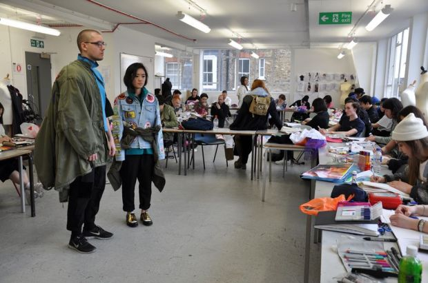 Students at Central Saint Martins college in London