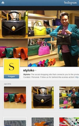 Styloko's Instagram profile, one of the social chanels where the company is present