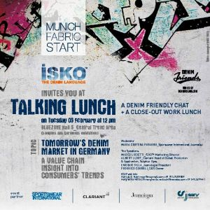 Talking Lunch by Isko at Munich Fabric Start