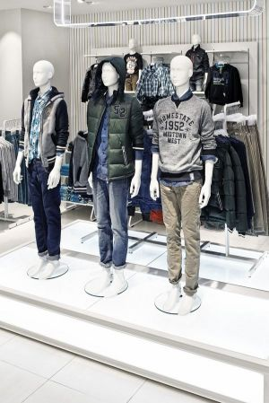 The Kids Denim section in C&A's newly designed Düsseldorf store
