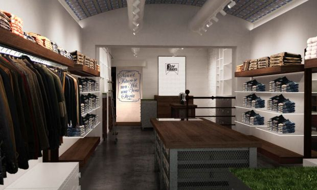 The new store mixes natural and artisan elements with modern materials