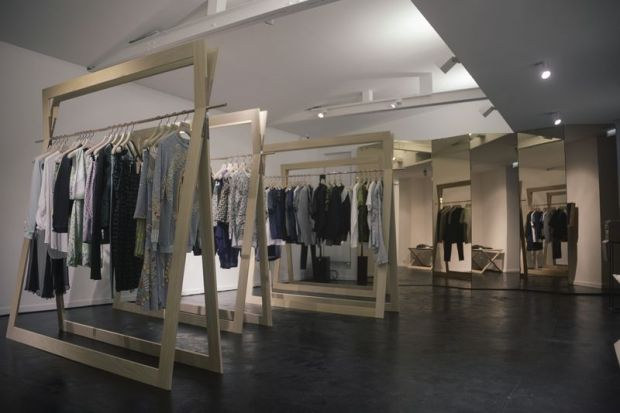 The store offers brands such as Damir Doma, McQ, JW Anderson or MM10