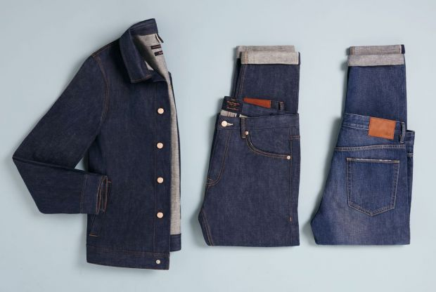 The three selvedge denim styles that form the Topman capsule collection