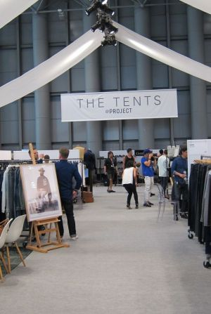 The Tents section at Project