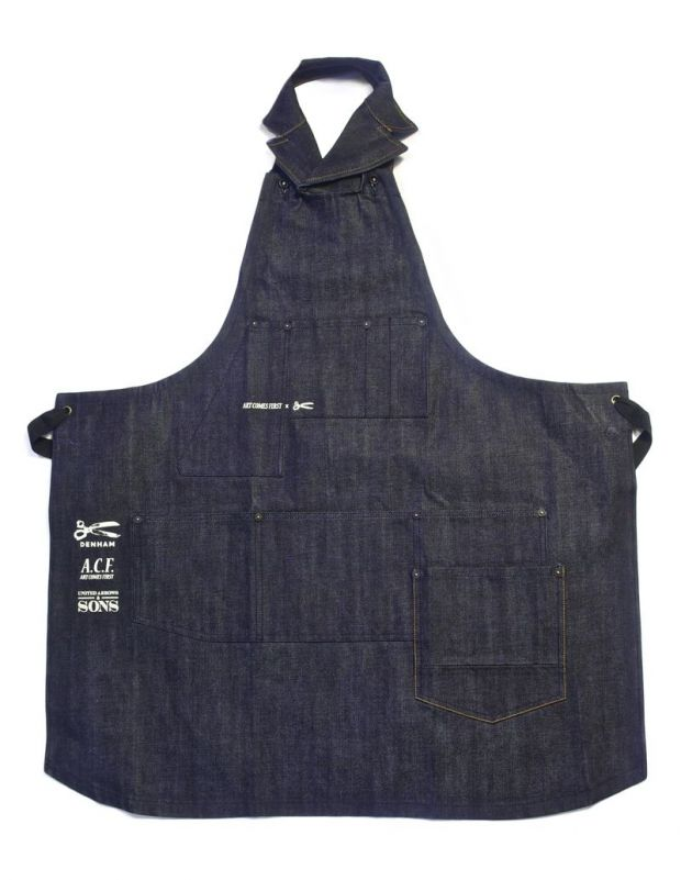 The aprons will be available in limited quantities only at United Arrows & Sons