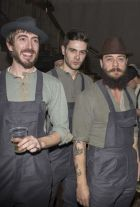 The boys of Super Duper Hats at Pitti