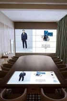 The digitial showroom inside Tommy Hilfiger's Amsterdam headquarter