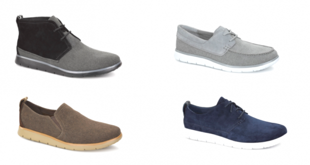 The four UGG models with lightweight shoe soles: Freamon, Catton, Conley and Bowmore