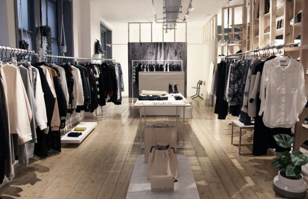 The new Goodhood environment, hosting upmarket mens- and womens collections