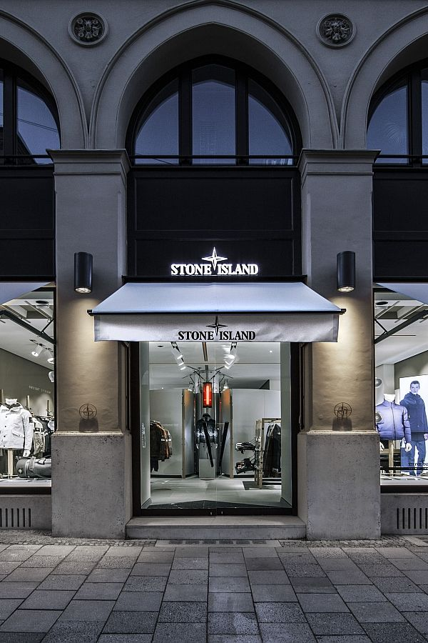stories stone island open flagship store in munich. Black Bedroom Furniture Sets. Home Design Ideas