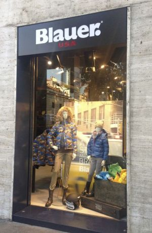 The redesigned Blauer store in Milan