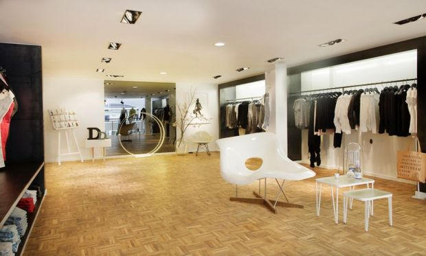 The shop features Denham's latest interior concept