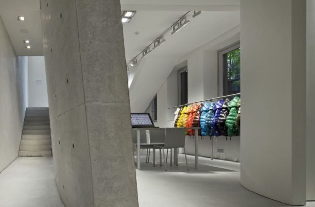 The showroom is located in Via Senato, Milan