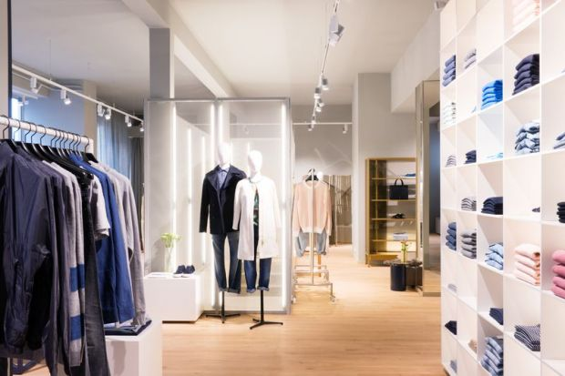 The store was designed with architect Philipp Mainer and furniture designers E15.