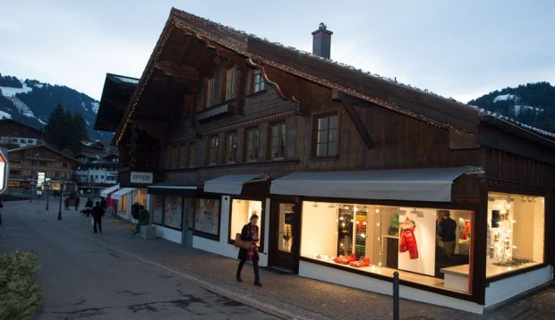 The store in Gstaad from the outside