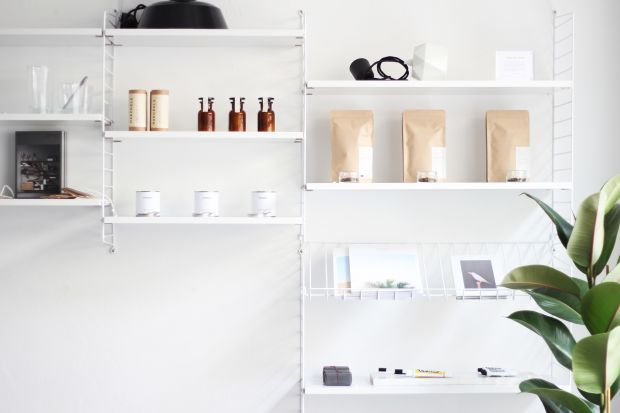 The store interior: clean and simple