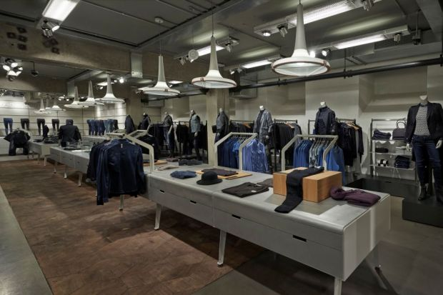 The women's floor in G-Star's new London store