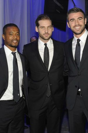 Tomaso Trussardi (middle), CEO of Trussardi