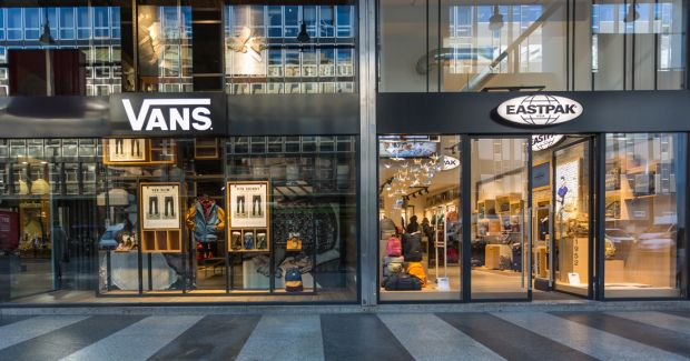 Vans and Eastpak store front