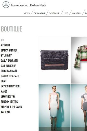 View of the MBFW online boutique