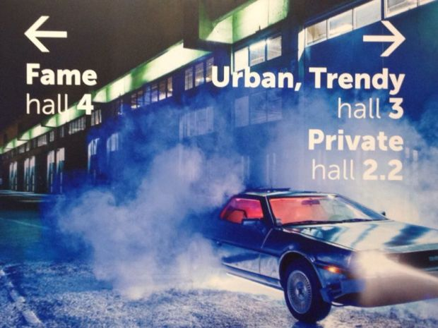 Visual campaign for this edition, referencing to the cult film 'Back to the Future'