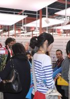 Visitors at the Milano Unica Pavilion at Intertextile Beijing