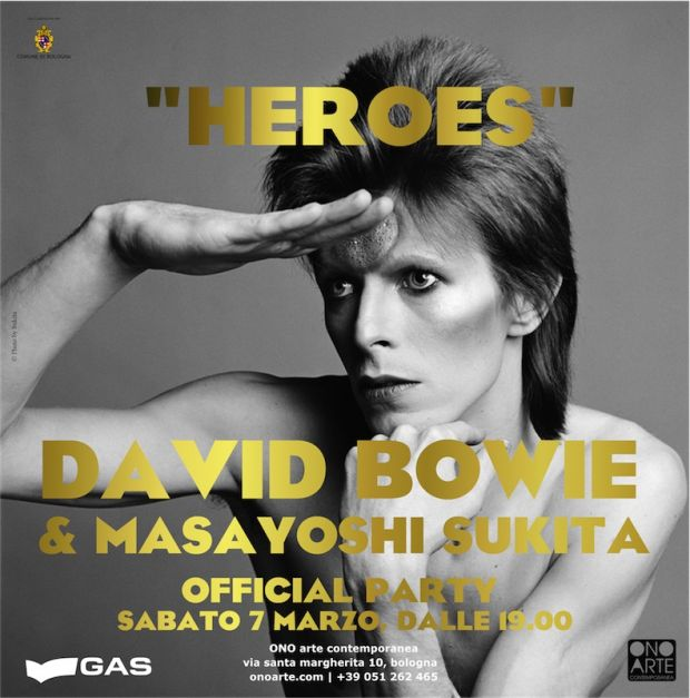 "Visual promoting the David Bowie ""Heroes"" exhibition"