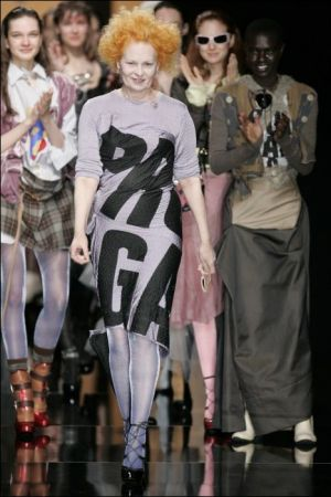 Vivienne Westwood at her Propaganda show for FW 2005-06