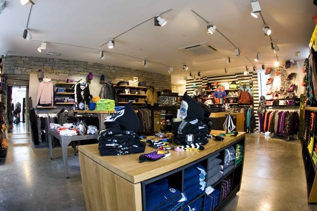 Volcom store in Les Deux Alps, France